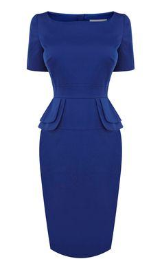 Ebay Pretty Karen Millen DQ013 Peplum dress dark blue Vouchers,Karen Millen UK