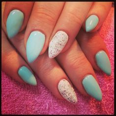Mint & white with sparkles