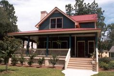 Elevation of Country   Farmhouse  Narrow Lot   Southern   House Plan 45621