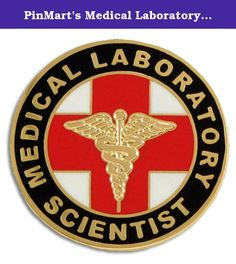 """PinMart's Medical Laboratory Scientist MLS Lapel Pin. This classic Medical Laboratory Scientist (MLS) 1"""" lapel pin is jewelry quality with gold plating and cloisonné hard enamel colors. The pin design features the familiar red cross and gold caduceus. Perfect for graduation ceremonies, special medic teams, medical conventions, and for the M.L.S. that deserves special recognition. Each pin includes a clutch back and is individually poly bagged."""