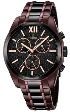 Buy FESTINA Bicolor Chronograph Mens Watch now from uhrcenter Watch Shop. Gents Watches, Watches For Men, Stainless Steel Watch, Smartwatch, Casio Watch, Michael Kors Watch, Chronograph, Omega Watch, Quartz