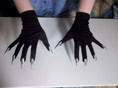 DIY Claw Gloves....I bet if you used spandex and added Scale maille, these would make great dragon claws... Will need to customize the talons, though
