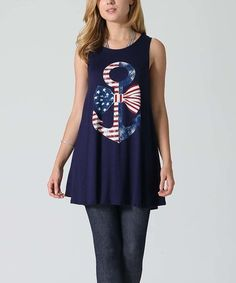 Look what I found on #zulily! Navy Stars & Stripes Anchor Swing Tunic #zulilyfinds