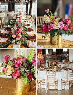 Whimsical Pink + Gold Dallas Wedding Emily + Eric is part of Fuschia wedding - Gold Dallas wedding Wedding Centerpieces, Wedding Bouquets, Wedding Decorations, Decor Wedding, Wedding Ideas, Wedding Shoes, Chic Wedding, Wedding Trends, Wedding Blog
