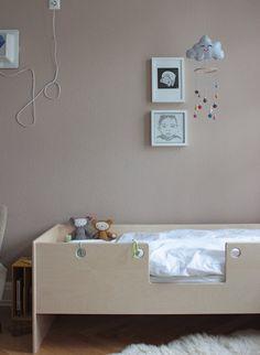 Das Kinderzimmer. #KOLORAT #Wandgestaltung #Braun