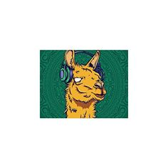 Cute Hipster Llama Collage Poster Paper Print Wall Art Living Room Home Office Decor 11 x 85 *** See this great product.