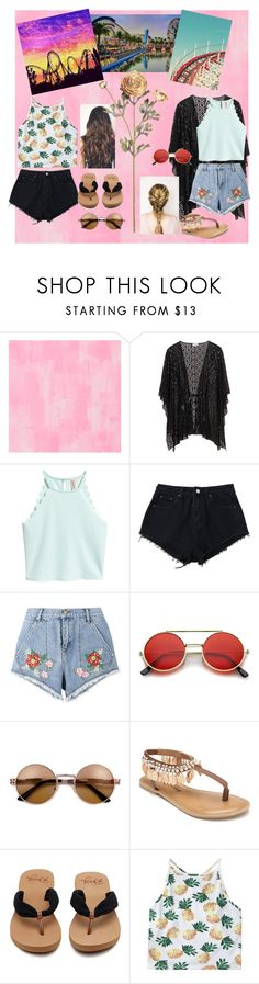 """""""Theme Park with bestie.💞"""" by shanoonflower ❤ liked on Polyvore featuring Designers Guild, House of Holland and Penny Loves Kenny"""