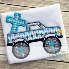 monster-truck-cross-applique $ REPIN THIS then click here: www.creativeappliques.com