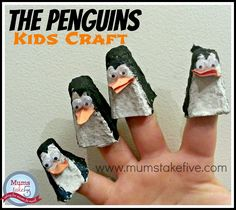 the penguins egg carton kids craft