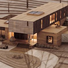 CGI Scale Model Project by Chen Suchart Studio Visualization by Maquette Architecture, Architecture Drawing Plan, Landscape Architecture Model, Architecture Model Making, Conceptual Architecture, Architecture Wallpaper, Minimalist Architecture, Architecture Portfolio, Futuristic Architecture