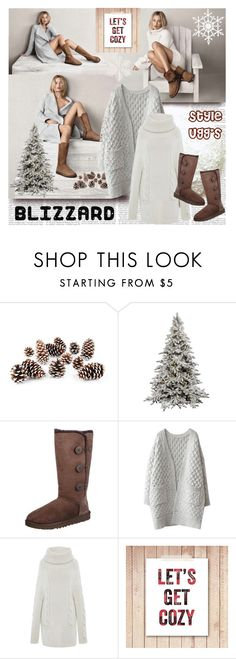 """Blizzard Style Ugg's"" by stylepersonal ❤ liked on Polyvore featuring Murphy, Knud Nielsen Company, UGG Australia, WithChic, Blumarine and blizzard"