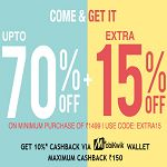 Upto 70% Off with Extra 15% Off On All Apparels | Jabong