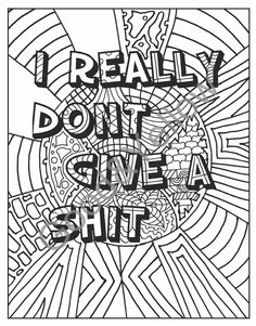 Swear Words Adult Coloring Book: Hate your by LovableLynzi on Etsy