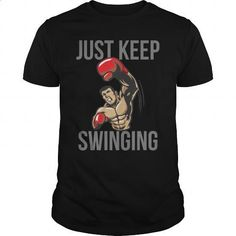 Just Keep Swingin Great Gift For Any Boxing Sport Fan - #boys #hoodies for men. CHECK PRICE => https://www.sunfrog.com/Sports/Just-Keep-Swingin-Great-Gift-For-Any-Boxing-Sport-Fan-Black-Guys.html?60505