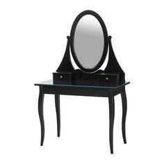 HEMNES Toaletka IKEA Ochronna folia zmniejsza uszkodzenia w przypadku stłuczenia szyby.