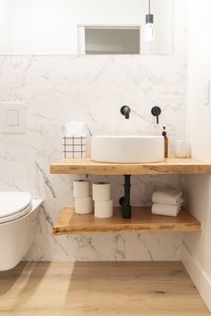 Live edge vanity in a Whistler cabin. Floating Bathroom Vanities, Small Bathroom Sinks, Bathroom Sink Vanity, Funky Bathroom, Wood Bathroom, Wood Sink, Wood Vanity, Cabin Bathrooms, Small Cabin Bathroom