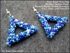 Beaded peyote triangles are a satisfying, versatile project for any beader. This article has free pattern instructions for flat, open, and tubular peyote stitch bead woven triangles.