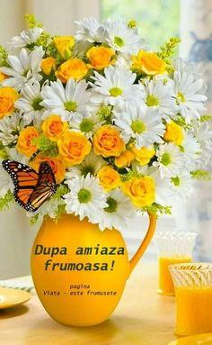 Buna ziua Phonetic Alphabet, Good Morning, Beautiful Flowers, Diy And Crafts, Day, Gifts, Indoor Gardening, Album, Quotes