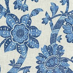 """Beautifulcream andbluefloral linendrapery fabric by Iman. Ideal for bedding, pillows,duvet covers and draperies. Dry clean recommended.100% LinenW: 54""""H. Repeat:13.5""""V. Repeat: 25.25""""v004ptef"""
