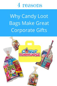 Why Candy Loot Bags Make Great Corporate Gifts Candy Gift Baskets, Candy Gifts, Candy Bar Wedding, Retro Candy, Loot Bags, Bulk Candy, Christmas Stocking Stuffers, Candy Party, Candy Apples