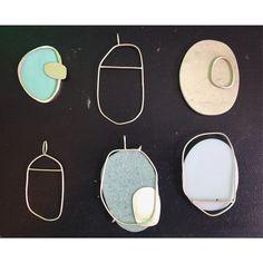 Sabira Silcock. Material composition. Corian and Silver Pendant Plans