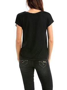 Desigual Camiseta Manga Corta Diana (Negro / Rosa Claro)