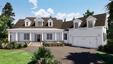 Farmhouse Exterior Design Ideas – The farmhouse exterior design entirely shows the entire style of your house as well as the household custom as well. The modern farmhouse style is not just for. Family House Plans, Country House Plans, New House Plans, Dream House Plans, Modern House Plans, Country Homes, Dream Houses, Log Houses, Southern Homes
