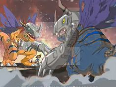 Metalgreymon vs metalgreymon virus by charizard-aznable on DeviantArt