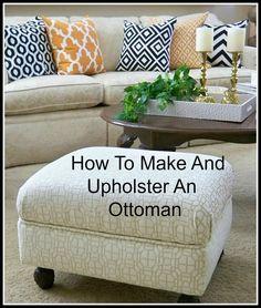 A Stroll Thru Life: How to Make & Upholster An Ottoman