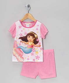 Take a look at this Pink Dora Shorts Pajama Set - Infant & Toddler by Dora the Explorer on #zulily today!