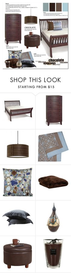 Chocolate and Blue by cruzeirodotejo on Polyvore featuring interior, interiors, interior design, home, home decor, interior decorating, HomePop, Andrea & Joen, Baobab Collection and NOVICA