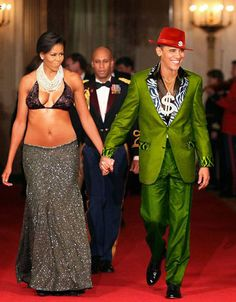 barack obama and michelle obama as pimp and hooker from white house photo.  Disgrace to the office and to those who have served before him.