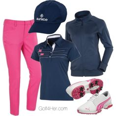 """Ladies Golf OOTD"" featuring items from AUR, PUMA and Sunice. All available at Golf4Her.com"