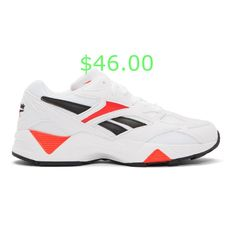 Reebok Classics White and Red Aztrek 96 Sneakers AUD Reebok, Men's Shoes, Shoes Sneakers, Luxury Fashion, Mens Fashion, White Porcelain, Trainers, Heels, Classic
