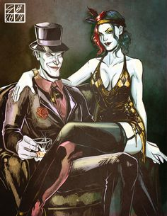 Vintage Harley and Joker