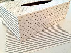 Delipapel: DIY Forrar caja pañuelos con papeles Delipapel