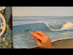"""""""How to Paint a Wave Using Acrylics I found this super cool"""" I would never be able to do this because I'm incapable of everything but this is amazing!"""