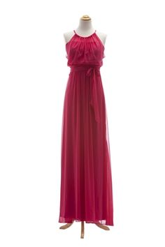 in different color? Halter Chiffon Gown with Shirred Bodice by After Six by Dessy Rose Fuchsia, Rose Pastel, Bridesmaid Dress Styles, Wedding Bridesmaids, Chiffon Gown, Formal Dresses, Wedding Dresses, Chic, Bodice