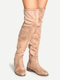 48$  Watch now - http://di9ap.justgood.pw/go.php?t=4906 - Apricot Suede Over The Knee Zipper Boots 48$