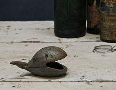 Vintage cast iron whale ashtray