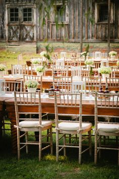 A rustic rehearsal dinner done oh-so-right.  Photography by gulnarastudio.com / Floral Design by lindabaldwinflowers.com #rehearsaldinner