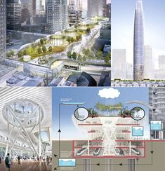 Green San Francisco Transbay Terminal Project. This project is still technically in the future, but it's been given the green light by the Transbay Joint Powers Authority.  It will include a massive 5.4 acre green roof/park which will be fully accessible to the public.