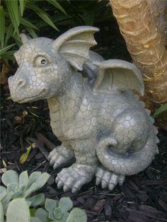 Dragon Garden Ornament Lying Scratching Ear By Puckator,  Http://www.amazon.com/dp/B004QVMPHA/refu003dcm_sw_r_pi_dp_hdzSrb1HRMKG6 |  Pinterest | Garden Ornaments