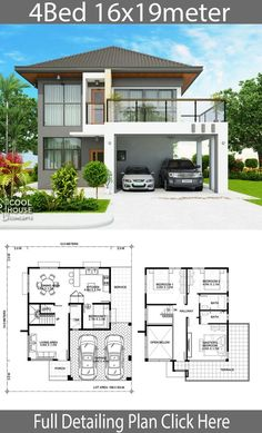 14 House Design with Floor Plans In the Philippines House Design With Floor Plans In The Philippines - Philippine house designs Simple 2 Storey House Design with Floor Plan Awesome 2 Home design plan Modern House Floor Plans, Simple House Plans, Simple House Design, Minimalist House Design, House Front Design, Modern House Design, Two Story House Design, 2 Storey House Design, Bungalow House Design