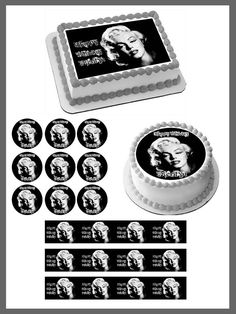 Marilyn Monroe Edible Birthday Cake Topper OR Cupcake Topper, Decor