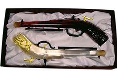 """DUPLA PISZTOLY  A fegyverek szerelmeseinek különös darab lehet gyűjteményébe ez a díszdobozos boros ajándék pisztoly készlet. Akire ezzel """"rálőnek"""", az garantáltan temetheti a rossz kedvet. Már csak egy kérdés maradt: vörös borral kívánja elűzni vagy fehérrel? A termék űrtartalma: 2x0,2 L. A díszdoboz mérete: 22x40 cm.  #ajándékbor,  #CabernetSauvignon, #TokajiFurmint, #díszüvegesbor, #vadász, #Exkluzívbor, Cabernet Sauvignon, Wii, Cleats, Marvel, Shoes, Football Boots, Zapatos, Cleats Shoes, Shoes Outlet"""