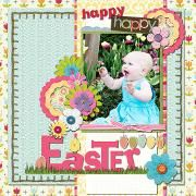 Beautiful layering and color combinations!  Happy Easter, happy baby
