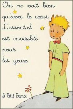 Le Petit Prince by Antoine de Saint-Exupéry... lindo creo que dice que lo escencial es invisible a los ojos... cómo está mi francés?