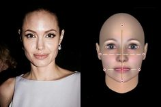 Angelina Jolie - Her face height from chin to hairline is taller than even the widest parts of her jaw and strong cheekbones. Jolie has a Long face shape