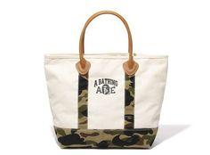 Bape 1st Camo Canvas Tote Bag